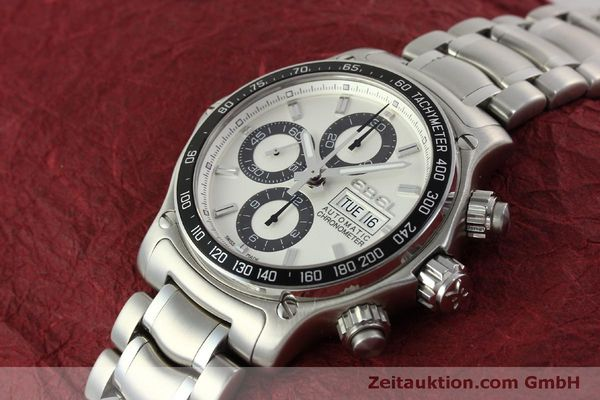 Used luxury watch Ebel 1911 chronograph steel automatic Kal. E 750 ETA 7750 Ref. 9750L62  | 151417 01