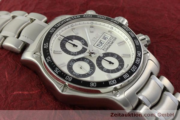 Used luxury watch Ebel 1911 chronograph steel automatic Kal. E 750 ETA 7750 Ref. 9750L62  | 151417 14