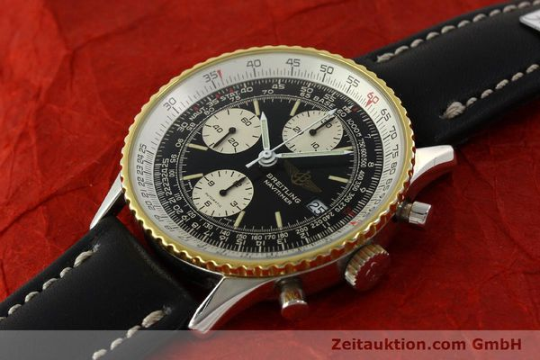 Used luxury watch Breitling Navitimer chronograph steel / gold automatic Kal. Val 7750 Ref. 81610  | 151425 01