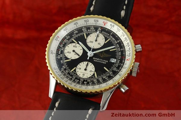 Used luxury watch Breitling Navitimer chronograph steel / gold automatic Kal. Val 7750 Ref. 81610  | 151425 04