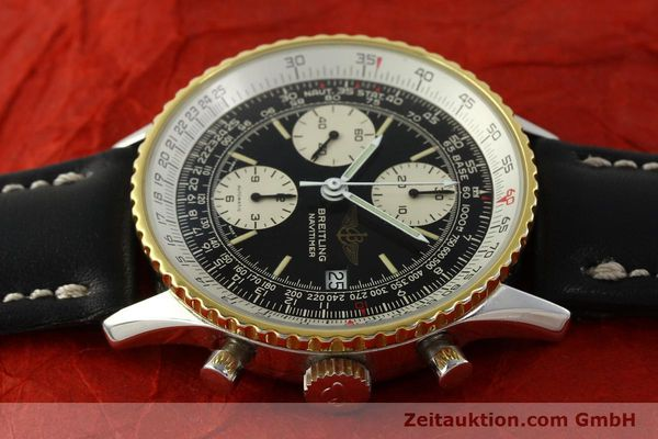 Used luxury watch Breitling Navitimer chronograph steel / gold automatic Kal. Val 7750 Ref. 81610  | 151425 05