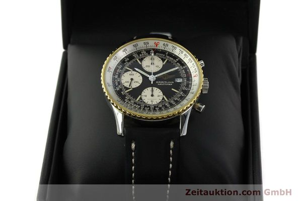 Used luxury watch Breitling Navitimer chronograph steel / gold automatic Kal. Val 7750 Ref. 81610  | 151425 07