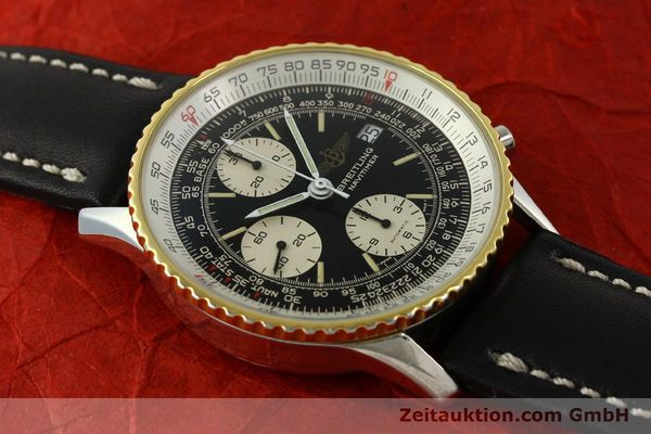Used luxury watch Breitling Navitimer chronograph steel / gold automatic Kal. Val 7750 Ref. 81610  | 151425 12