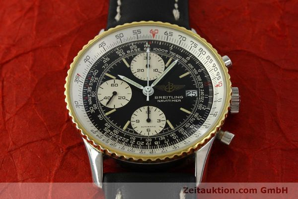 Used luxury watch Breitling Navitimer chronograph steel / gold automatic Kal. Val 7750 Ref. 81610  | 151425 13