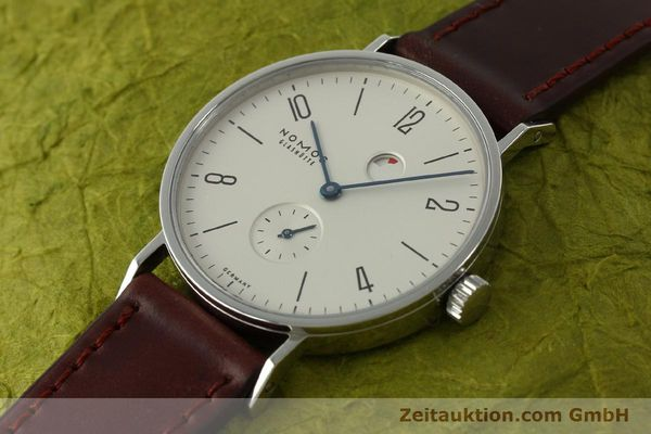 Used luxury watch Nomos Tangente steel manual winding Kal. Gamma 2265  | 151433 01