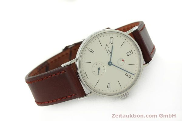 Used luxury watch Nomos Tangente steel manual winding Kal. Gamma 2265  | 151433 03