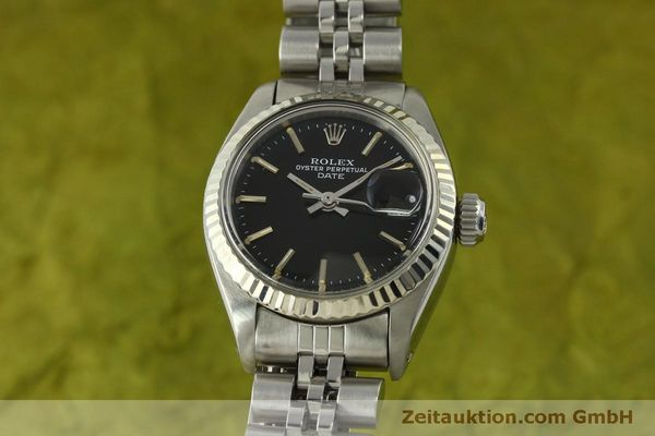Used luxury watch Rolex Lady Date steel / white gold automatic Kal. 2030 Ref. 6917  | 151434 04