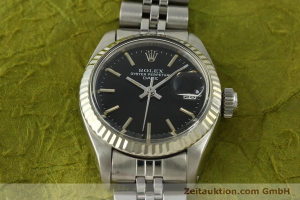 Used luxury watch Rolex Lady Date steel / white gold automatic Kal. 2030 Ref. 6917  | 151434 17