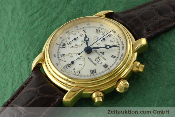 Used luxury watch Maurice Lacroix Croneo chronograph gold-plated automatic Kal. ETA 7750 Ref. 8183  | 151437 01
