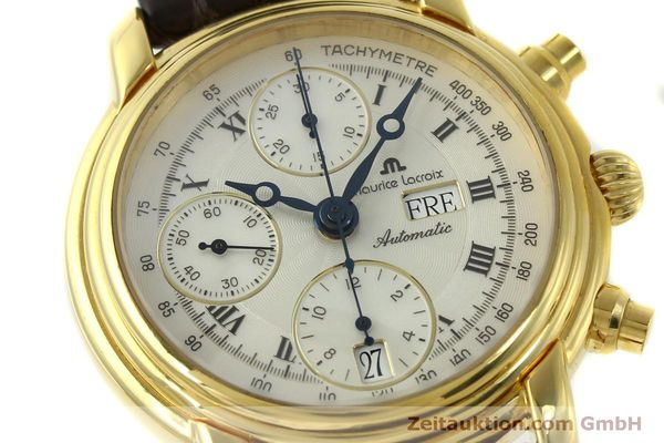 Used luxury watch Maurice Lacroix Croneo chronograph gold-plated automatic Kal. ETA 7750 Ref. 8183  | 151437 02