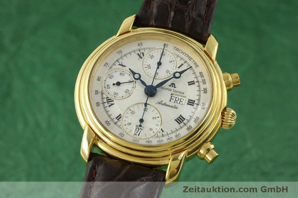 Used luxury watch Maurice Lacroix Croneo chronograph gold-plated automatic Kal. ETA 7750 Ref. 8183  | 151437 04