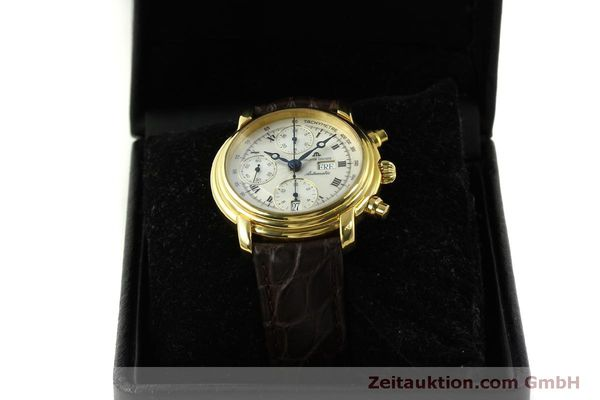 Used luxury watch Maurice Lacroix Croneo chronograph gold-plated automatic Kal. ETA 7750 Ref. 8183  | 151437 07