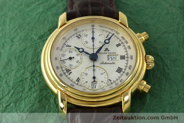 Used luxury watch Maurice Lacroix Croneo chronograph gold-plated automatic Kal. ETA 7750 Ref. 8183  | 151437 13
