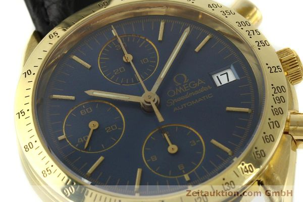 montre de luxe d occasion Omega Speedmaster chronographe or 18 ct automatique Kal. 1155  | 151441 02