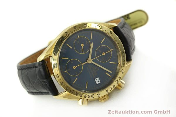 montre de luxe d occasion Omega Speedmaster chronographe or 18 ct automatique Kal. 1155  | 151441 03