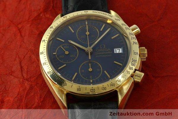 montre de luxe d occasion Omega Speedmaster chronographe or 18 ct automatique Kal. 1155  | 151441 15