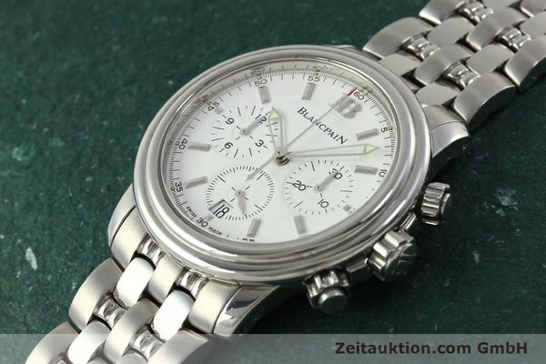 Used luxury watch Blancpain Leman chronograph steel automatic Kal. 1185  | 151444 01