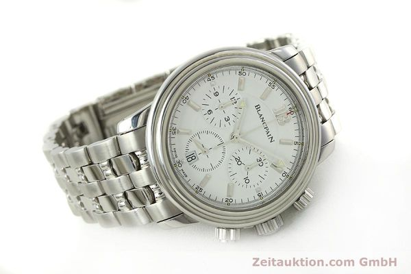 Used luxury watch Blancpain Leman chronograph steel automatic Kal. 1185  | 151444 03