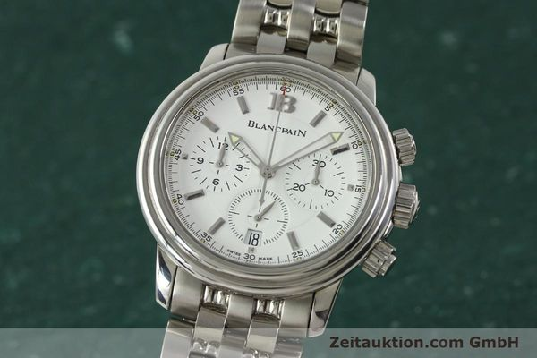 Used luxury watch Blancpain Leman chronograph steel automatic Kal. 1185  | 151444 04