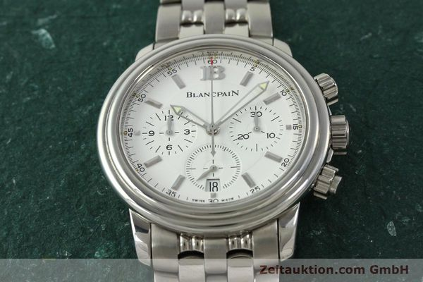 Used luxury watch Blancpain Leman chronograph steel automatic Kal. 1185  | 151444 14