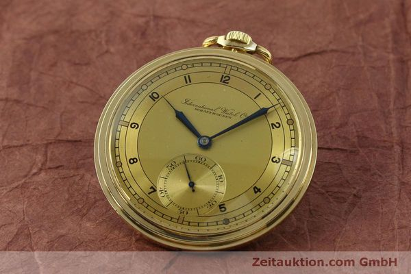 Used luxury watch IWC Taschenuhr 14 ct yellow gold manual winding Kal. C.97  | 151453 04