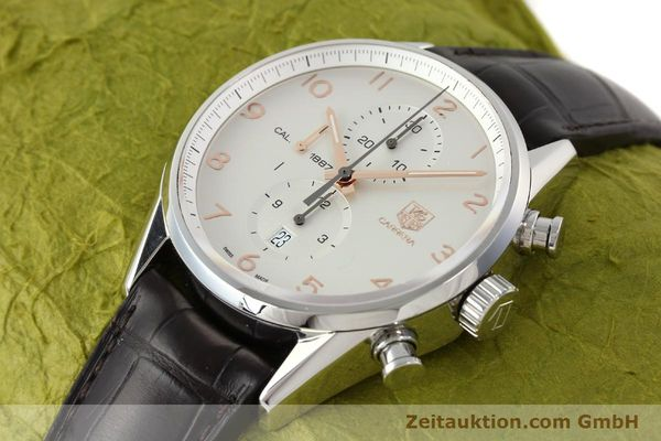 Used luxury watch Tag Heuer Carrera chronograph steel automatic Kal. 1887 Ref. CAR2012-0  | 151458 01