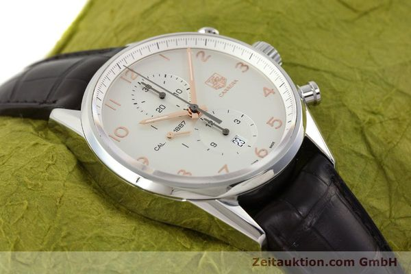 Used luxury watch Tag Heuer Carrera chronograph steel automatic Kal. 1887 Ref. CAR2012-0  | 151458 13