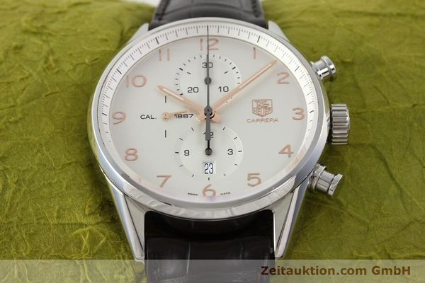 Used luxury watch Tag Heuer Carrera chronograph steel automatic Kal. 1887 Ref. CAR2012-0  | 151458 14