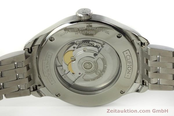 Used luxury watch Baume & Mercier Clifton steel automatic Kal. BM11260 Sellita SW260-1  | 151480 09