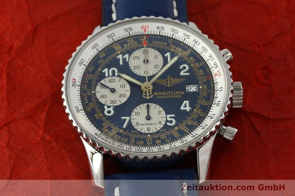Used luxury watch Breitling Navitimer chronograph steel automatic Kal. B13 ETA 7750 Ref. A13022  | 151482 15