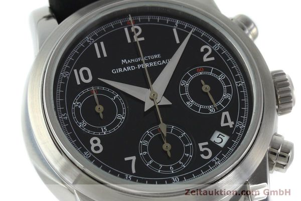 Used luxury watch Girard Perregaux * chronograph steel automatic Kal. 2280-731 Ref. 8021  | 151487 02