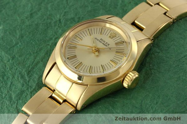 Used luxury watch Rolex Oyster Perpetual 18 ct gold automatic Kal. 2030 Ref. 6718  | 151502 01