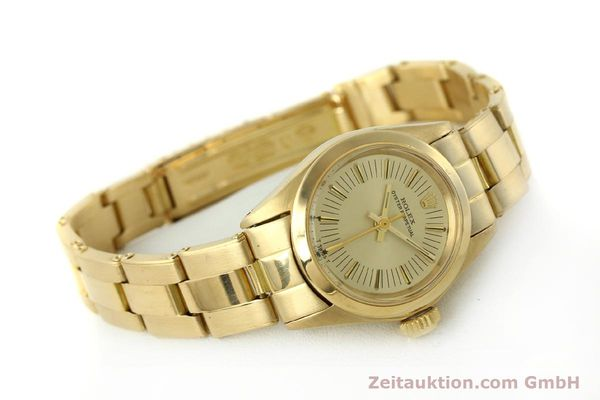 Used luxury watch Rolex Oyster Perpetual 18 ct gold automatic Kal. 2030 Ref. 6718  | 151502 03