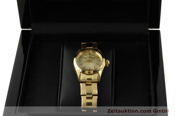 Used luxury watch Rolex Oyster Perpetual 18 ct gold automatic Kal. 2030 Ref. 6718  | 151502 07