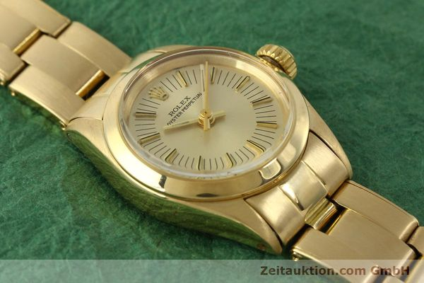 Used luxury watch Rolex Oyster Perpetual 18 ct gold automatic Kal. 2030 Ref. 6718  | 151502 16