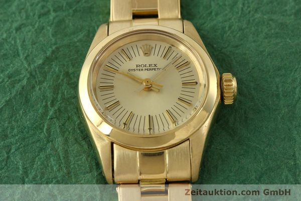Used luxury watch Rolex Oyster Perpetual 18 ct gold automatic Kal. 2030 Ref. 6718  | 151502 17