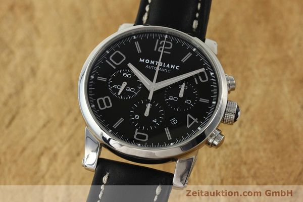 Used luxury watch Montblanc Timewalker chronograph steel automatic Kal. 4810502 Ref. 7069  | 151507 04