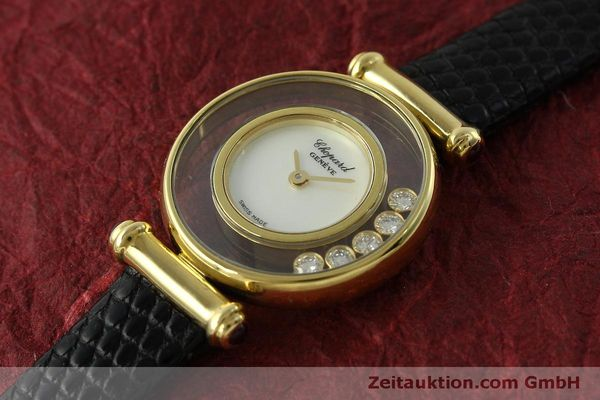 gebrauchte Luxusuhr Chopard Happy Diamonds 18k Gold Quarz Ref. 20/4780  | 151511 01