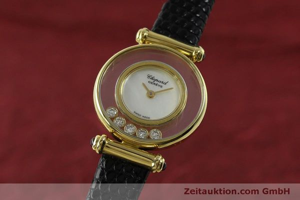 gebrauchte Luxusuhr Chopard Happy Diamonds 18k Gold Quarz Ref. 20/4780  | 151511 04