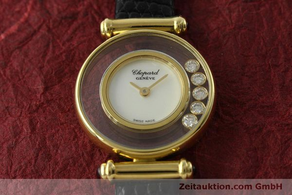 gebrauchte Luxusuhr Chopard Happy Diamonds 18k Gold Quarz Ref. 20/4780  | 151511 12