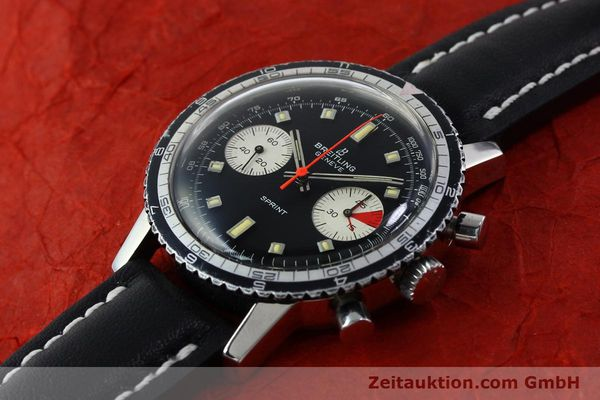 Used luxury watch Breitling Sprint chronograph steel manual winding Kal. 7733 Ref. 2010 VINTAGE  | 151515 01