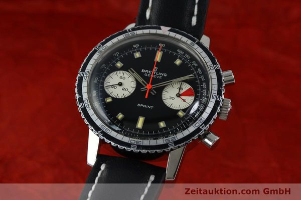 Used luxury watch Breitling Sprint chronograph steel manual winding Kal. 7733 Ref. 2010 VINTAGE  | 151515 04