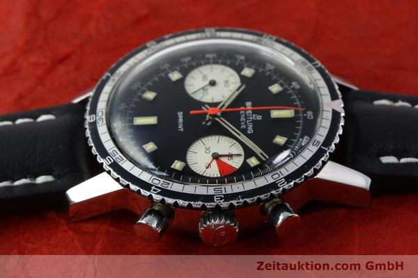 Used luxury watch Breitling Sprint chronograph steel manual winding Kal. 7733 Ref. 2010 VINTAGE  | 151515 05