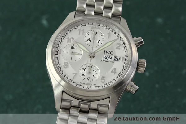 Used luxury watch IWC Fliegerchronograph chronograph steel automatic Kal. 7922 Ref. 3706  | 151525 04