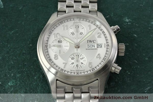 Used luxury watch IWC Fliegerchronograph chronograph steel automatic Kal. 7922 Ref. 3706  | 151525 19