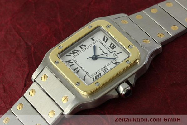 Used luxury watch Cartier Santos steel / gold automatic Kal. ETA 2671  | 151537 01