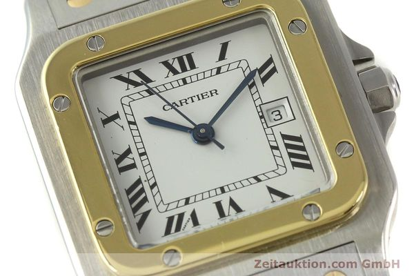 Used luxury watch Cartier Santos steel / gold automatic Kal. ETA 2671  | 151537 02