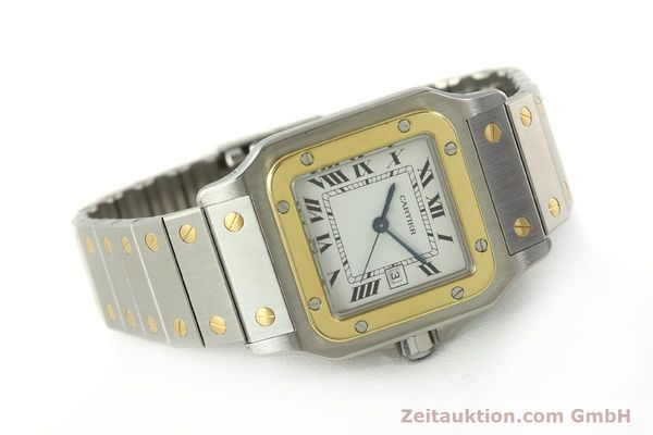 Used luxury watch Cartier Santos steel / gold automatic Kal. ETA 2671  | 151537 03