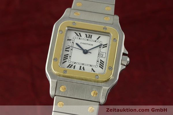 Used luxury watch Cartier Santos steel / gold automatic Kal. ETA 2671  | 151537 04