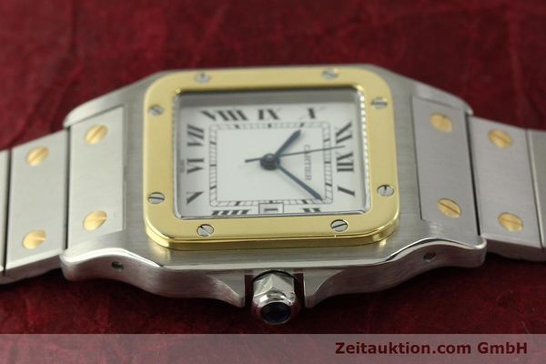 Used luxury watch Cartier Santos steel / gold automatic Kal. ETA 2671  | 151537 05